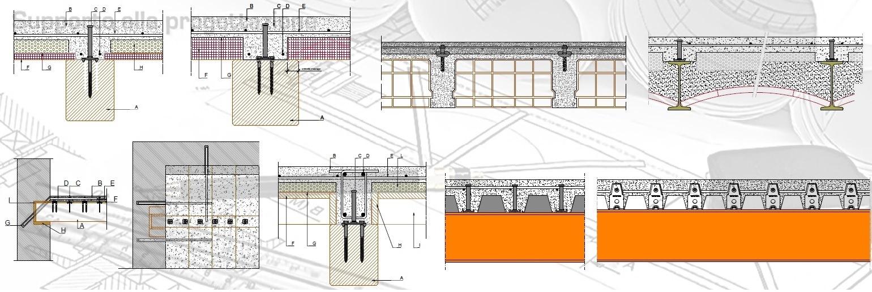 Ripristino Solaio Latero Cemento 1007 particolari solaio dwg - rinforzo solai e connettori