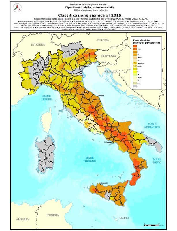 Mappa Antisismica ITALIA - solai antisismici
