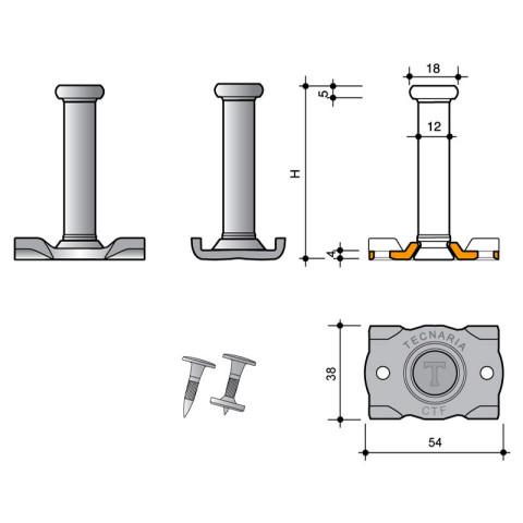 Connettore per acciaio a piolo