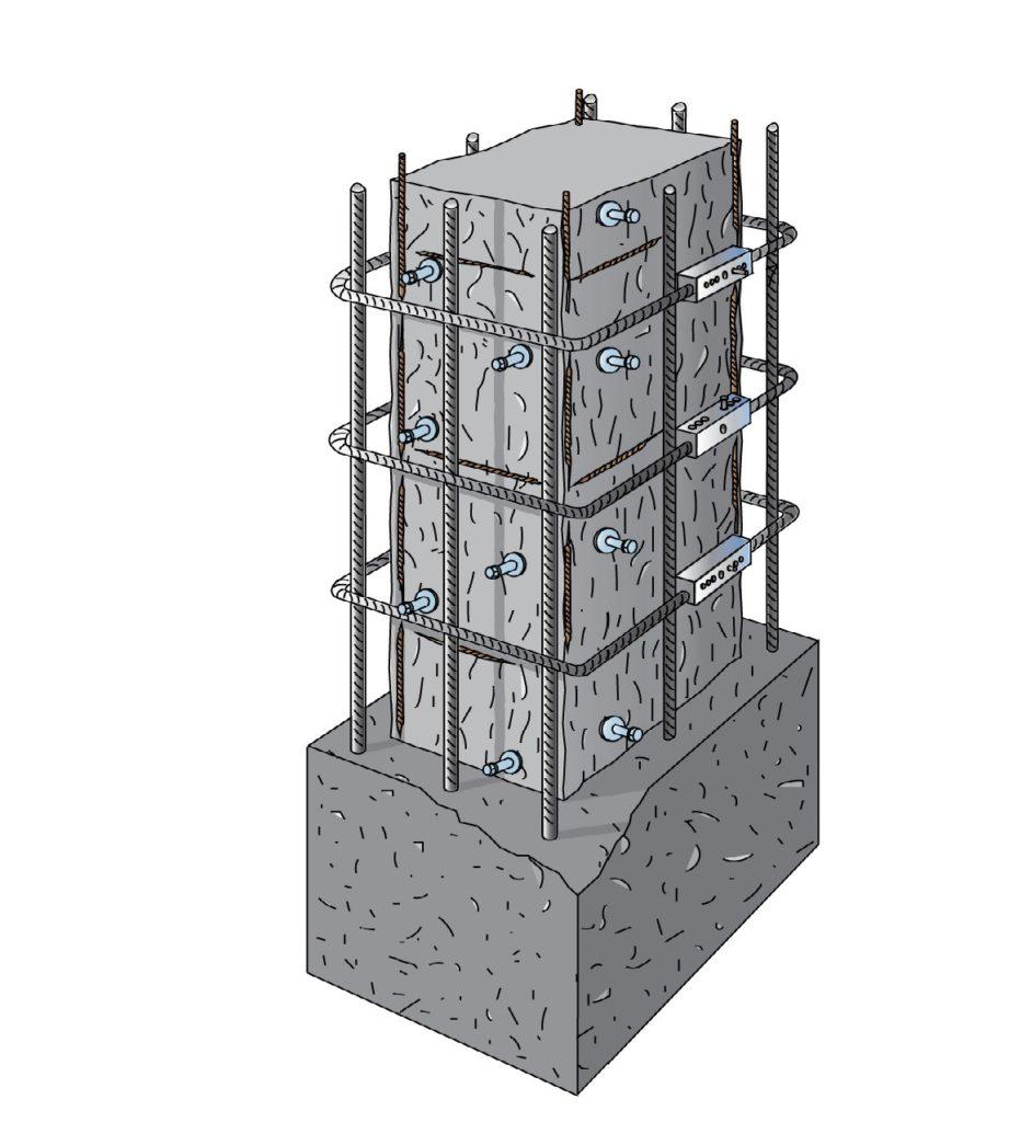Il rinforzo del pilastro e del nodo trave pilastro - Pilastro portante ...