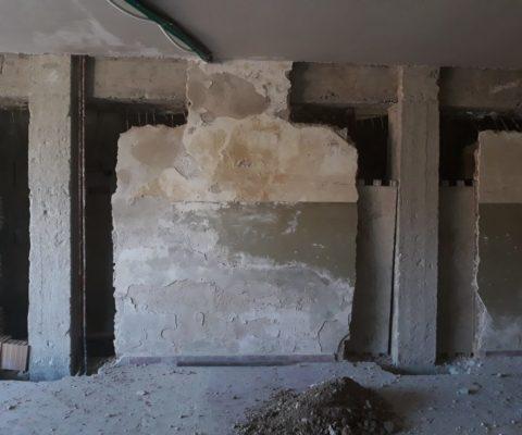 Messa a nudo di alcuni pilastri interni